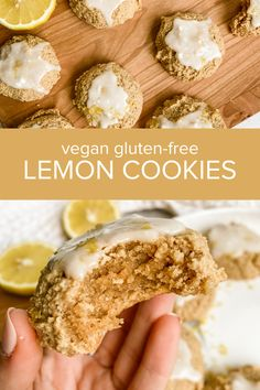 These almond and coconut flour lemon cookies are soft, chewy, sweet and tangy! They are both vegan and gluten-free and come together with just a few simple wholesome ingredients. Sweet Cookies, Lemon Cookies, No Bake Cookies, Baking With Coconut Flour, Baking Flour, Lemon Glaze Icing, Nut Butter, Vegan Gluten Free, Cookie Recipes