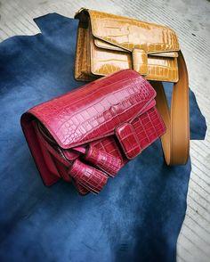 #bespoke #handmade #leatherbag #craftwork #crocodile #alligator #milawave