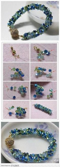 DIY Glass Bead Bracelet by wanting