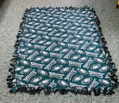 Philadelphia Eagles Fleece BlanketNo Sew Fleece by LisasBounty, $45.00