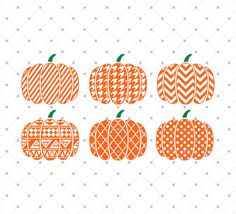 Patterned Pumpkin SVG cut files, Halloween svg, Pumpkin svg cut files for…