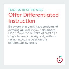 Differentiated curriculum is individualized to meet the diverse needs of all the students in one class.