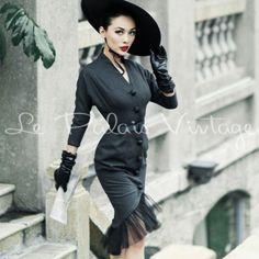 le palais vintage autumn& winter Slim retro Fishtail Dress (SIZES:XS, S, M, L,)  #Handmade