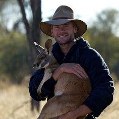 Brolga and Kangaroo Dundee - The Kangaroo Sanctuary
