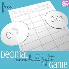 Classroom Freebies: free comparing decimals game
