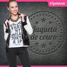 Se jaquetas de couro são indispensáveis no seu guarda-roupa, você tem muuiito bom gosto! #lookbook