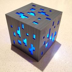 Minecraft Diamond Ore Lamp (3D Print) by I_am_me