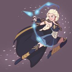 Disney Princesses (and Queen...) as League of Legends characters - Elsa