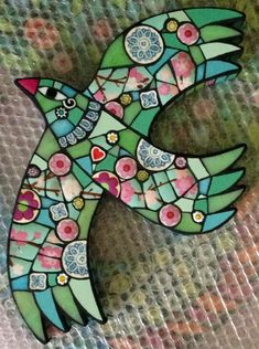 Contemporary mosaic art by Amanda Anderson. Mosaic Artwork, Mosaic Wall, Mosaic Glass, Mosaic Mirrors, Mosaic Animals, Mosaic Birds, Mosaic Art Projects, Mosaic Crafts, Mosaic Ideas