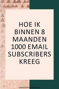Wanneer je succesvol wilt worden, moet het opbouwen van een e-maillijst je prioriteit zijn. In dit artikel vertel ik hoe ik mijn eerste 1000 e-mail subscribers kreeg en hoe jij ook je e-maillijst kunt laten groeien.