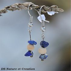 Lapis lazuli jewelry hippie gypsy earring by DSNatureetCreation