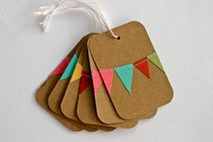<3 it! What cute birthday tags this would make! Or even with Christmas ribbon triangles!