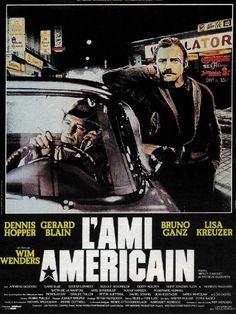 """""""L'ami américain"""" de Wim Wenders avec Dennis Hopper, Bruno Ganz, Lisa Kreuzer, Gérard Blain, Nicholas Ray. Allemagne. 1977"""