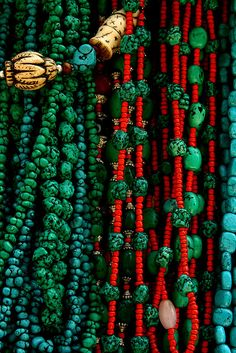 Beads at the pilgrims' market, Lhasa.
