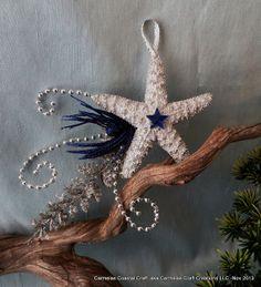 Shooting star fish beach ornament by CarmelasCoastalCraft on Etsy, $10.75