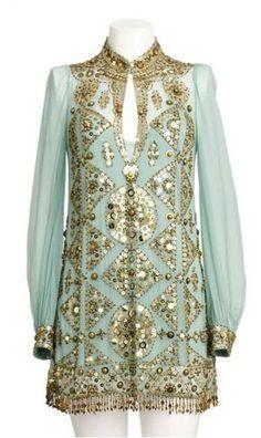 Embellished Dress by Jenny Packham I Love Fashion, Star Fashion, Indian Fashion, Boho Fashion, Womens Fashion, Honeymoon Style, Jenny Packham, Indian Attire, Embellished Dress