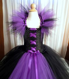 Maleficent Tutu Dress with Matching Horned by on Etsy Tutu Costumes, Halloween Costumes, Maleficent Costume, Fairy Dress, Cute Baby Clothes, Little Girl Dresses, Types Of Fashion Styles, Pageant, Comedia Musical