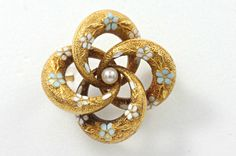 Victorian Yellow Gold & Seed Pearl Love Knot Pin - Dianne's Estate Jewellery