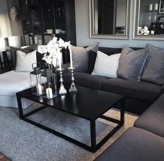 Black And White Living Room, Living Room Grey, Home And Living, Military Home Decor, Simple Living Room Decor, First Apartment Decorating, Living Room Inspiration, Apartment Living, Living Room Designs