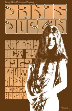 Janis Joplin 1969 Tour Poster by Tomasek on Etsy