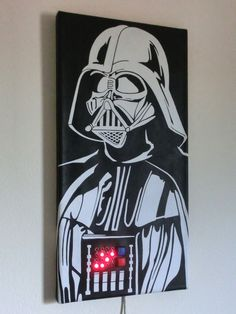 Talking Darth Vader Binary Clock