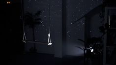 Starfield swing. Could be fun with a different image - hills/clouds.