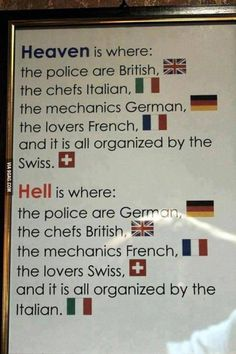 The definition of Heaven and Hell
