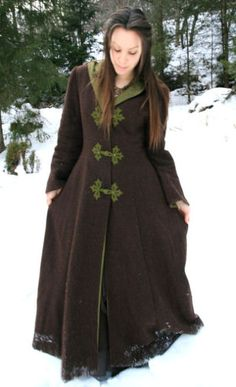 Cloaks Pagan Wicca Witch:  Medieval winter #coat, by Naviana.