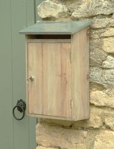 Our wooden postbox has been carefully designed with a strong hard-wearing slanted galvanised roof. £25.00