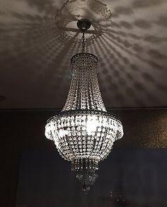 Stunning Kronleuchter Kristall cm H he Korbleuchter Deckenlampe H ngelampe Lampe Neu