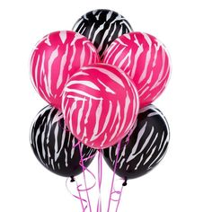 Perfect for V-Day #so cute    baloons zebra pink black white valentines day party planning Birthday Balloon Surprise, Zebra Birthday, Birthday Balloons, 1st Birthday Parties, Birthday Ideas, 2nd Birthday, Animal Birthday, Happy Birthday, Zebra Wedding