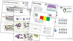 12 free picture directions for math games {printable} - KindergartenWorks
