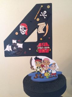 Jake and neverland Pirates number Centerpieces by angilee123