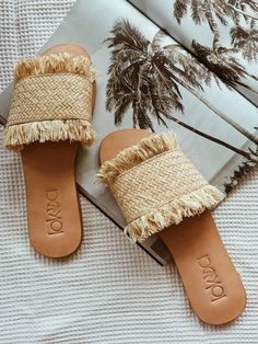 2eaf8272 Semila Slides Zapatos Azules, Decoración De Sandalias, Zuecos, Sandalias  Planas, Zapatos Planos