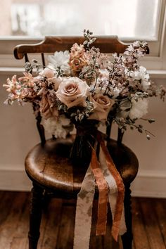 This romantic bridal bouquet features soft pink flowers. A whimsical wedding bouquet of my dreams! Rose Wedding Bouquet, Fall Wedding Bouquets, Fall Wedding Flowers, Bride Bouquets, Bridal Flowers, Wedding Centerpieces, Floral Wedding, Pink Flowers, Wedding Colors