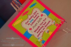 Bright color signs with candy symbols!!!!