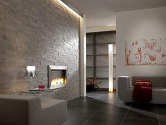 nachher: wandverkleidung im treppenhaus mit kunststeinpaneel m-093 ...
