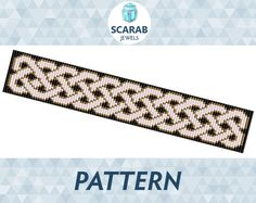 Loom Bead Pattern: Celtic Knot Bracelet / Cuff by ScarabJewels