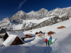winter walking through the high plateau of #Ramsau am Dachstein in Austria