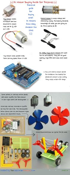 DC Motor Buying Guide for DIY Electronics Projects In DIY Electronics Including Arduino, Types of DC Motors Can Confuse a Newbie. Here is a DC Motor Buying Guide for DIY Electronics Projects. Electronics Projects, Electronic Circuit Projects, Electronics Storage, Electrical Projects, Electronics Components, Electronic Engineering, Electronic Gifts, Electronics Gadgets, Hobby Electronics