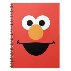 Shop Elmo Face Art Notebook created by SesameStreet. Diy Notebook Cover, Notebook Design, Elmo, Mini Canvas Art, Custom Notebooks, Carpet Runner, Big Bird, Face Art, School Supplies