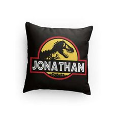 #JurassicPark Custom 14 x 14 Pillow  Personalize with name and colors!