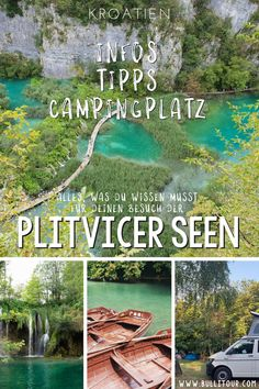 Plitvice Lakes National Park Croatia - Tips for your visit and my campsite recommendation - Here you will find plenty of tips and information for your visit to the OPlitvice Lakes National Pa - Bus Vw, Europe Destinations, Camping Glamping, Camping Site, Camping Ideas, Travel Itinerary Template, European City Breaks, Acevedo, Plitvice Lakes National Park