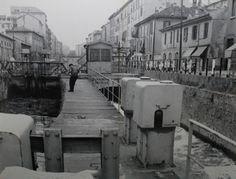 Naviglio Pavese, la prima chiusa a poche centinaia di metri dalla Darsena   da Milan l'era inscì