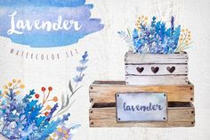Lavender watercolor DIY by Peace ART on @creativemarket