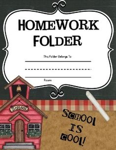 Homework Folders { Kindergarten } FREE!!! Includes 4 great pages. Cover, random alphabet, sight words, CVC short vowel words, shapes, colors, numbers 1 through 10, alphabet in order, reading strategies. #thekindercupboard #kindercupboard