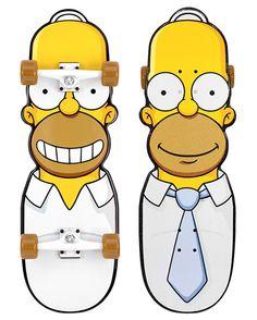 Homer Simpson Skateboard on http://www.drlima.net