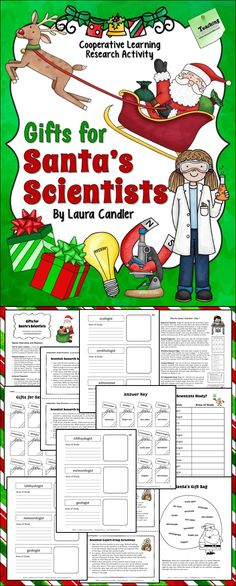 Gifts for Santa's Scientists - Fun Science Research Activity - Great for cooperative learning teams or independent study $ #LauraCandler