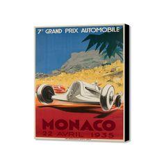 "Monaco 22 Avril 1935 (20"" x 16"")"