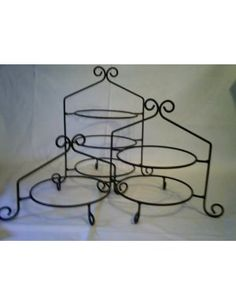 Triple tier pie stand/ plate rack. Handmade from amish country.